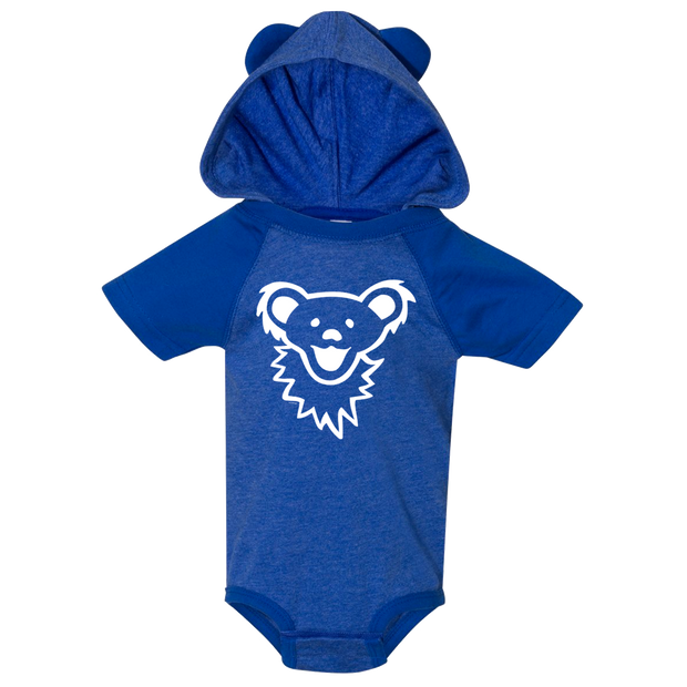 Grateful Dead Dancing Bear Face Baby Hooded One Piece