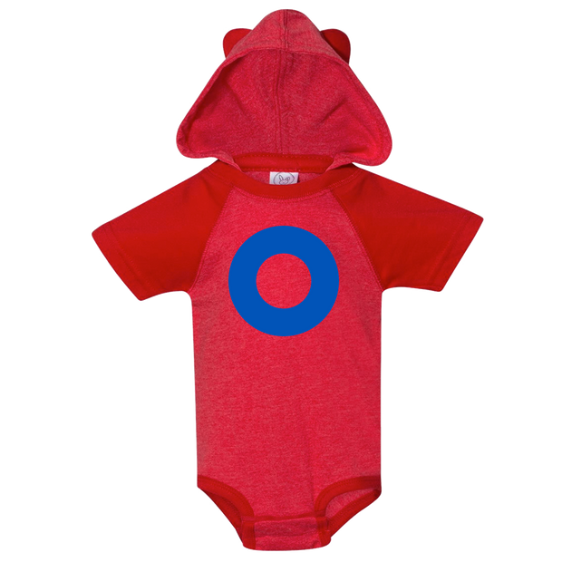 Fishman Donut Hooded Baby One Piece