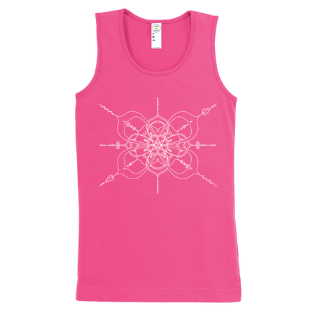 Pink girls tank with mandala inspired infinity design
