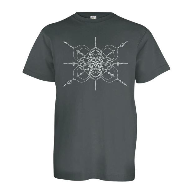 Black youth tshirt with mandala inspired infinity design