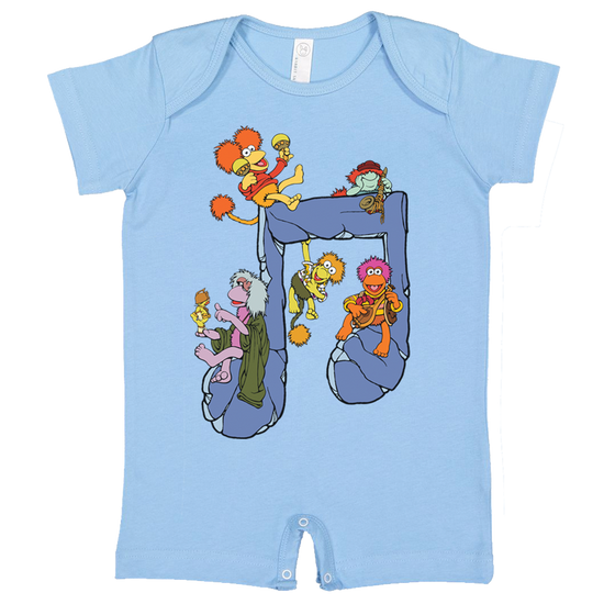 Jim Henson's Fraggle Rock Music Note Baby T Romper