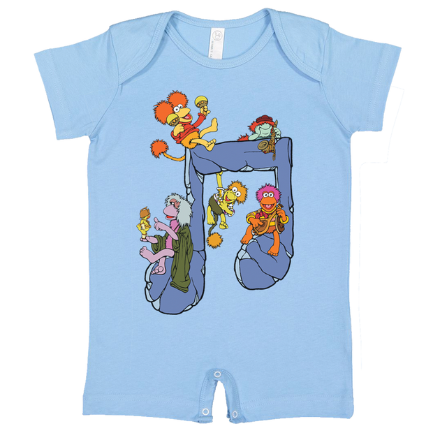 deaf5dff212a Jim Henson s Fraggle Rock Music Note Baby T Romper