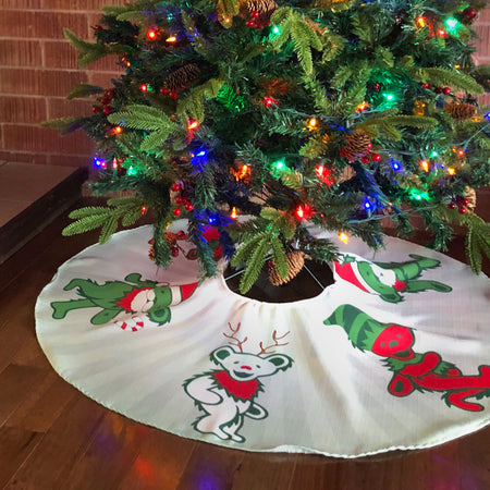 Grateful Dead Jingle Bears Christmas Tree Skirt