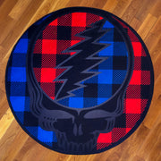 Grateful Dead Buffalo Plaid Stealie Round Area Rug