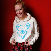 Grateful Dead Dancing Bear Face Women's Cropped Hoodie