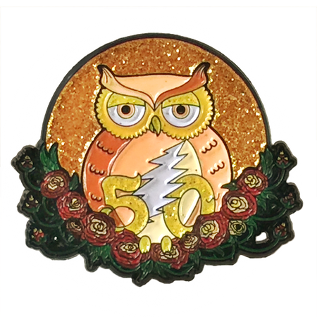 Grateful Dead Gold Owl Pins