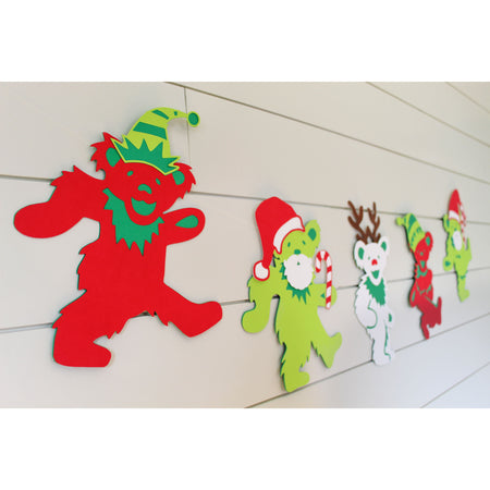 Grateful Dead Jingle Bears Holiday Cardstock Banner