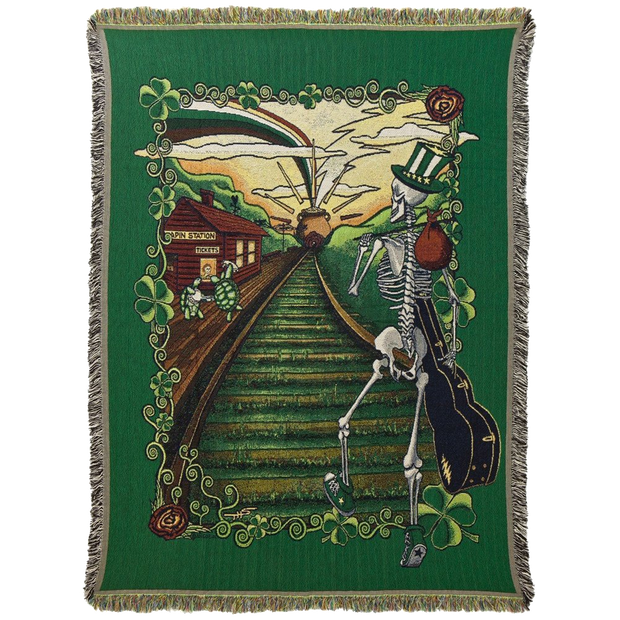 Grateful Dead Lucky Sam Woven Cotton Blanket