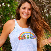 Grateful Dead Rainbow Bears Women's Flowy Racerback Tank