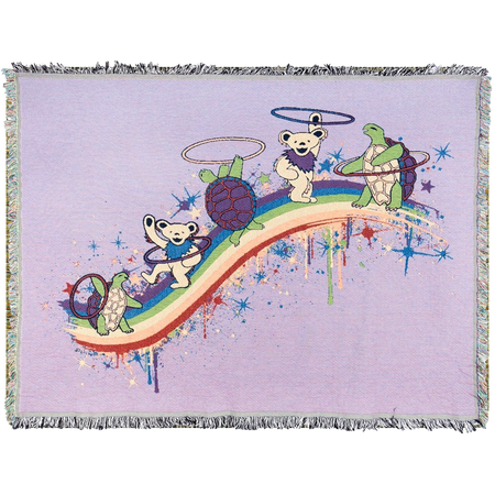 Grateful Dead Rainbow Hoopers Woven Cotton Blanket