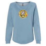 Grateful Dead Rainbow Splatter Women's Wave Wash Crewneck Sweatshirt