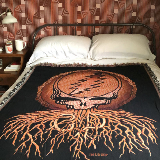 Dead Roots Stealie Woven Cotton Blanket