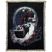 Grateful Dead Winter Sleigh Stealie Woven Cotton Blanket