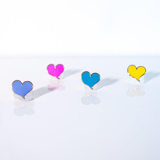 Simple Heart Set of Four Pins