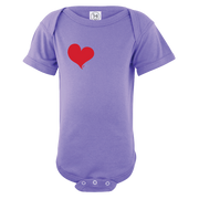 Simple Heart Short Sleeve One Piece