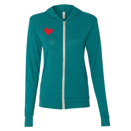 Simple Heart Unisex Lightweight Zippy Hoodie