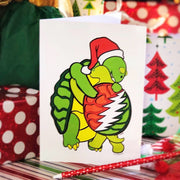 Holiday Grateful Dead Hugging Terrapins Greeting Card