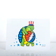 Grateful Dead Hugging Terrapins Greeting Card