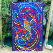 Hummingbird Printed Cotton 3D Tapestry