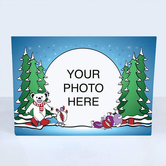 Ice Skating Bear & Terrapin Customized Photo Frame Holiday Card