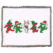Grateful Dead Jingle Bears Woven Cotton Blanket