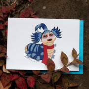 "Jim Henson's Labyrinth Movie ""Ello"" Worm Greeting Card"