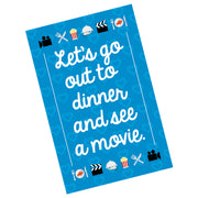 Let's Go to Dinner Valentine Card