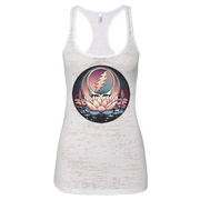 Grateful Dead Lotus Stealie Women's Burnout Racerback Tank