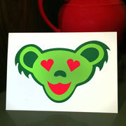 Grateful Dead Holiday Love Bear Greeting Card