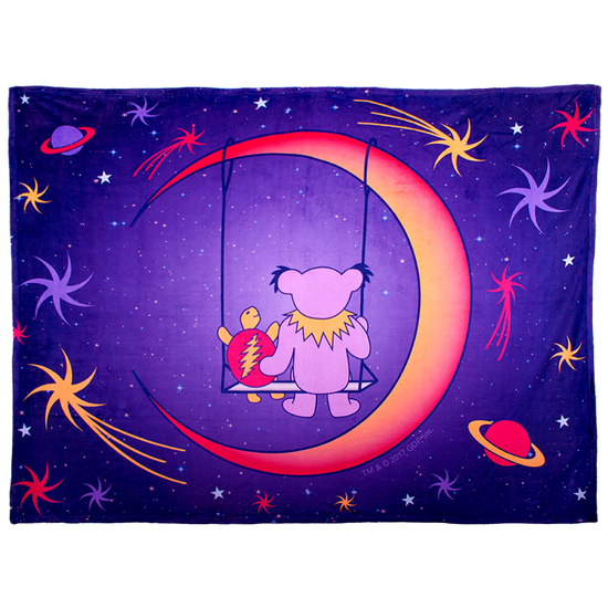 Grateful Dead Purple Moon Swing Coral Fleece Blanket