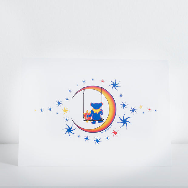 Grateful dead animal characters tagged sugar magnolia little hippie grateful dead moon swing greeting card m4hsunfo