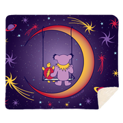 Grateful Dead Purple Moon Swing Sherpa Fleece Blanket