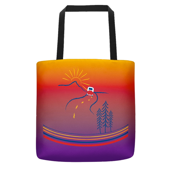 On the Road Polyester Tote Bag