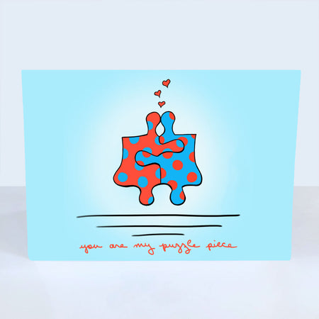 You are My Puzzle Piece Greeting Card