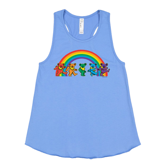 Grateful Dead Rainbow Dancing Bears Girls Racerback Tank