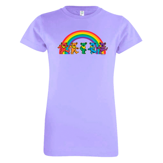 Grateful Dead Rainbow Bears Girls Youth T