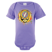 Grateful Dead Rainbow Splatter Stealie Short Sleeve One Piece