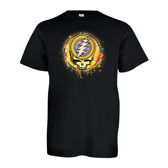 Grateful Dead Rainbow Splatter Stealie Youth T Shirt