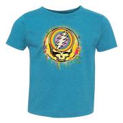 Grateful Dead Rainbow Splatter Stealie Toddler T