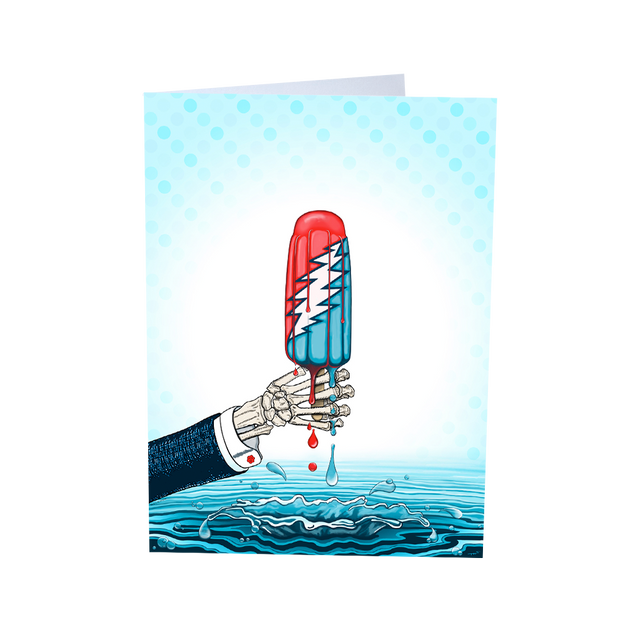 Grateful Dead Rocket Pop Greeting Card