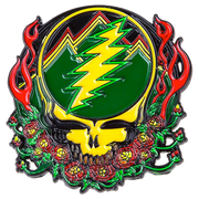 Grateful Dead Scarlet Fire Stealie Pins