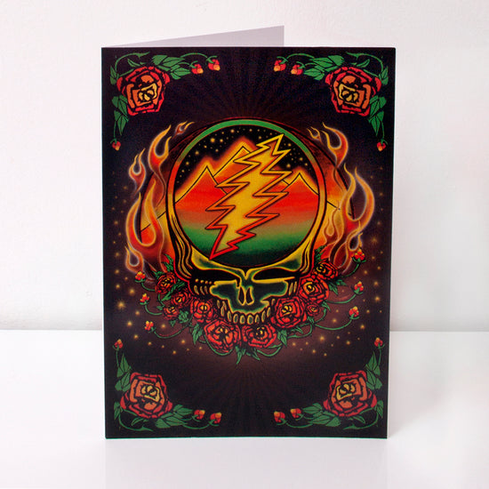 Grateful Dead Scarlet Fire Stealie Greeting Card