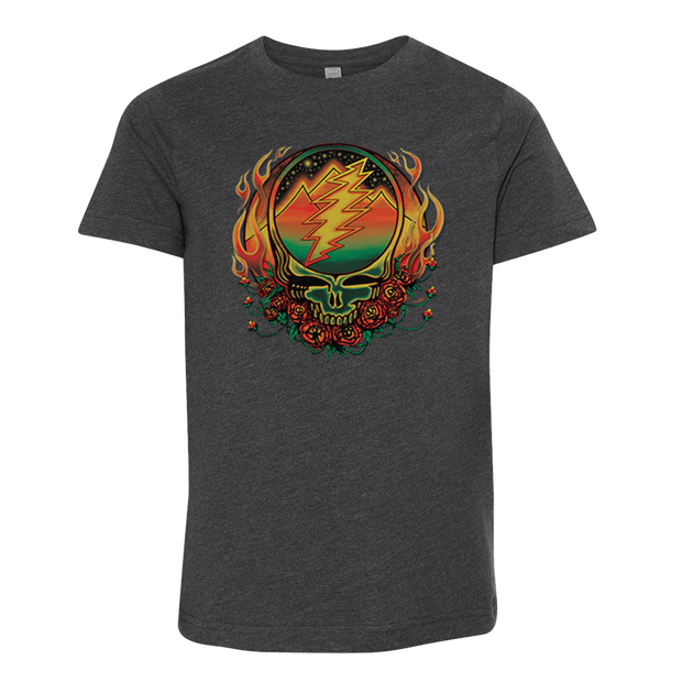 Grateful Dead Scarlet Fire Stealie Youth T Shirt