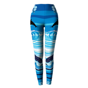 Sea Turtle and Dolphins Blue Leggings