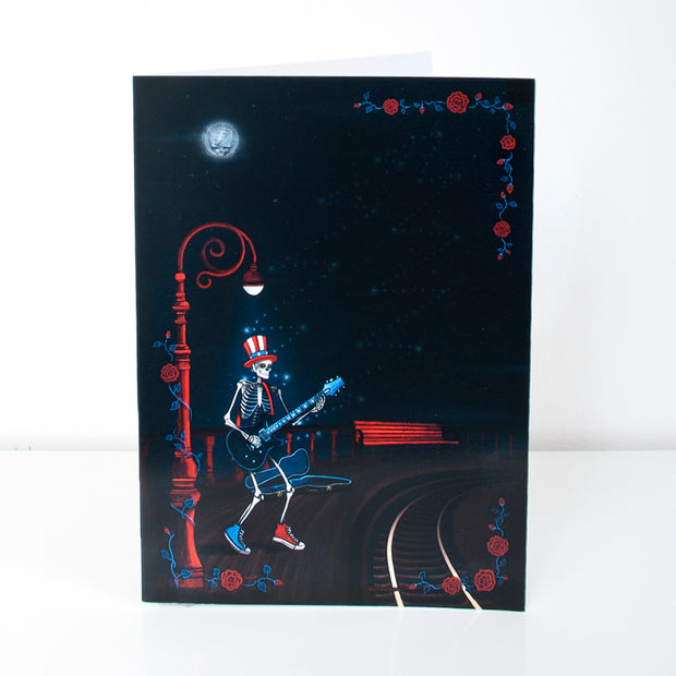 Grateful Dead Skella Blues Greeting Card
