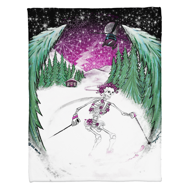 Grateful Dead Skiing Bertha Coral Fleece Blanket