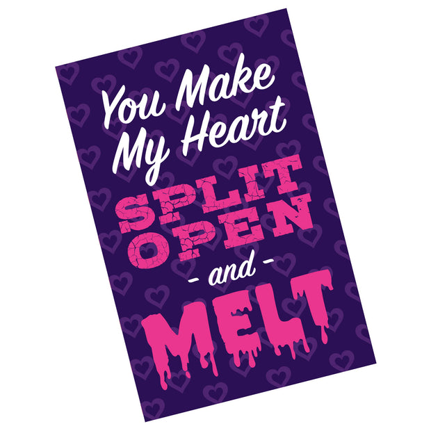Split Open and Melt Valentine Card