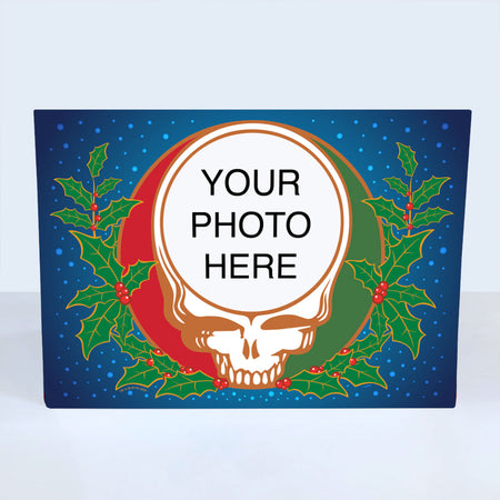 Steal Your Holly Customized Photo Frame Holiday Card