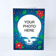 Steal Your Poinsettias Customized Photo Frame Holiday Card