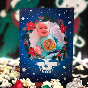 Steal Your Wreath Customized Photo Frame Holiday Card